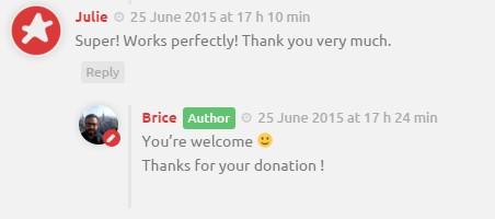 Mettre en avant les commentaires de l'auteur dans WordPress